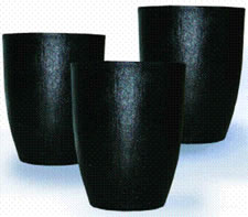 Ceramic bonded clay graphite crucible